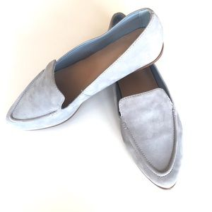 Also Powder Blue Suede Loafer Size 8